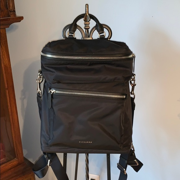 cbbef0af7bfd Brand New Black Nylon Burberry Backpack